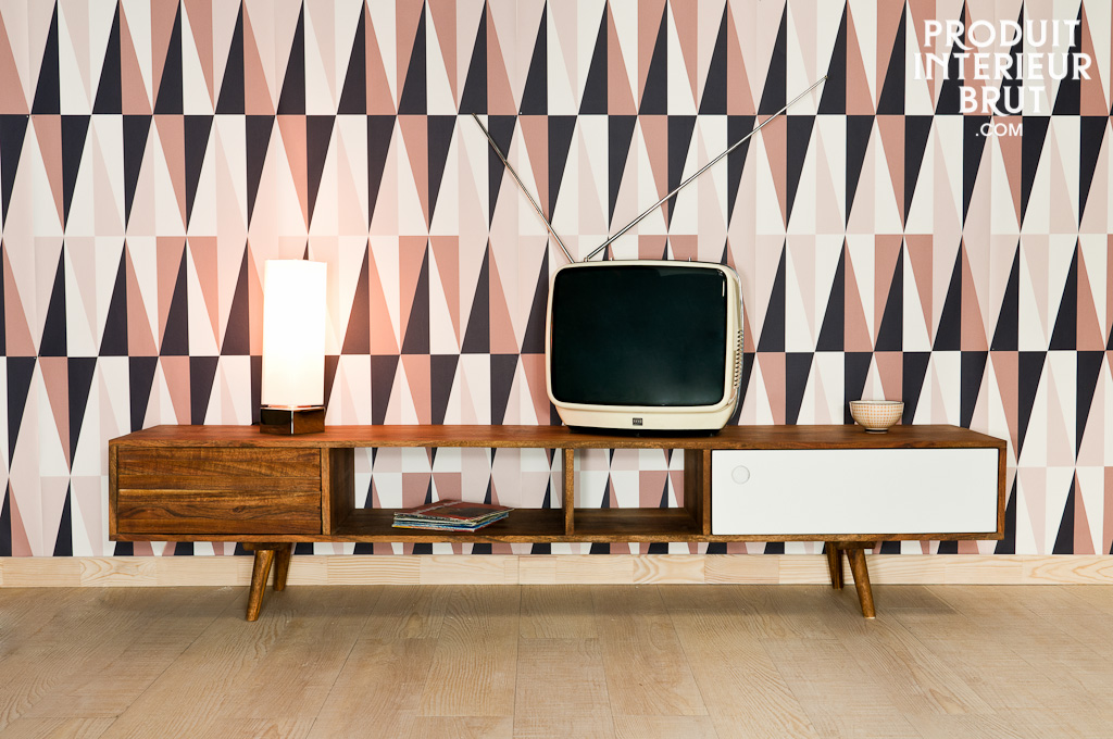 tv m bel stockholm design der 50er jahre aus massivem akazienholz. Black Bedroom Furniture Sets. Home Design Ideas