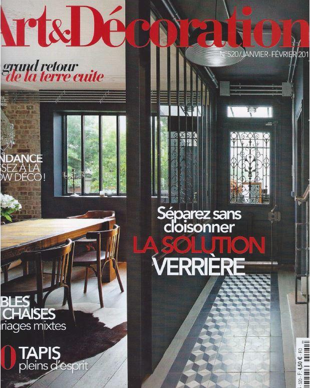 Art and Decoration magazine January and February 2017