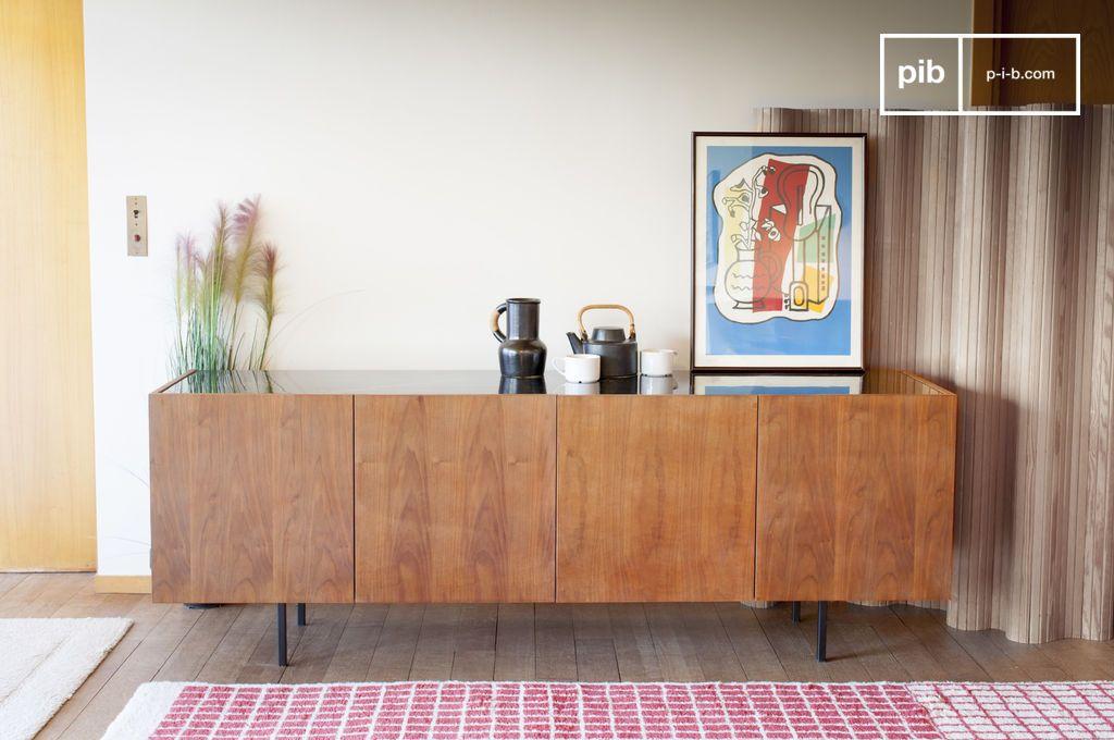 anrichte aus holz und marmor lovisa quadratisch teakholz. Black Bedroom Furniture Sets. Home Design Ideas