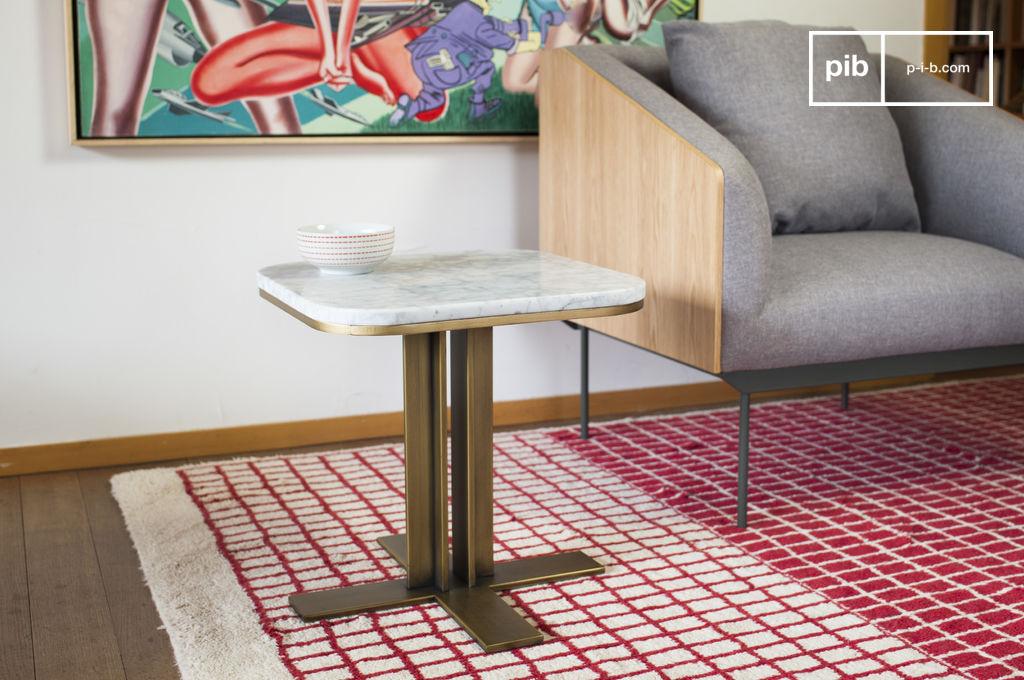 beistelltisch carrera marmor und messing pib. Black Bedroom Furniture Sets. Home Design Ideas