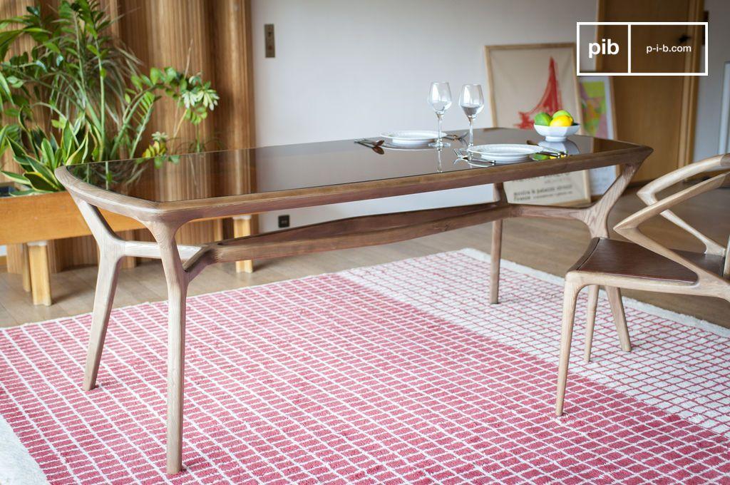 dagsmark esstisch aus holz und glas lackiert sauber pib. Black Bedroom Furniture Sets. Home Design Ideas