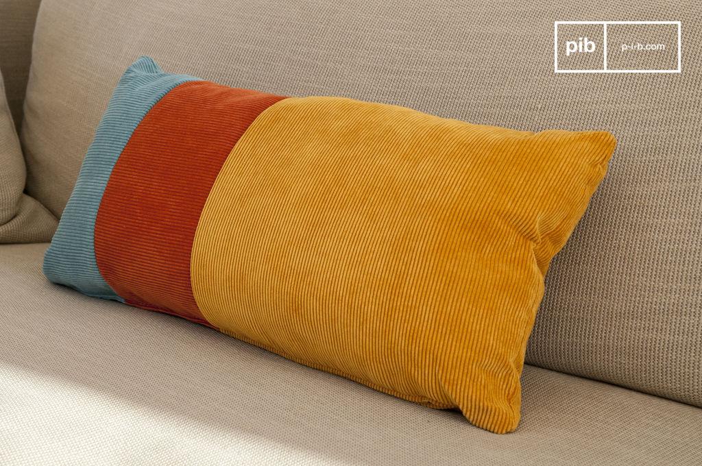 dreifarbiges kissen mathis weichheit vintage farben pib. Black Bedroom Furniture Sets. Home Design Ideas