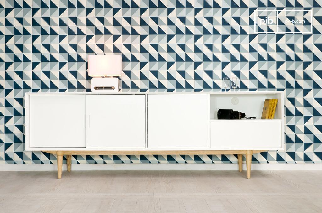 holz sideboard fjord helles retro aufbewahrungsm bel pib. Black Bedroom Furniture Sets. Home Design Ideas