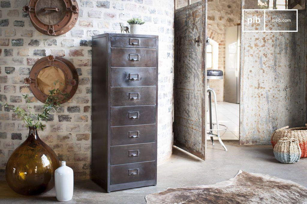 metall aktenschrank mit 8 schubladen telex pib. Black Bedroom Furniture Sets. Home Design Ideas