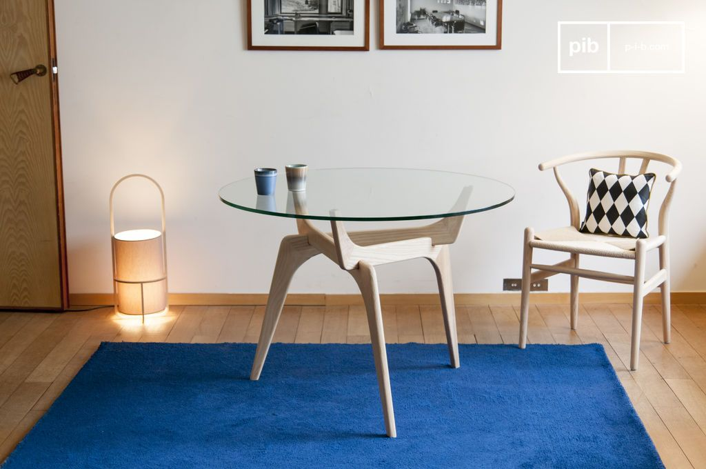 runder tisch aus glas parkano transparent grafisch. Black Bedroom Furniture Sets. Home Design Ideas