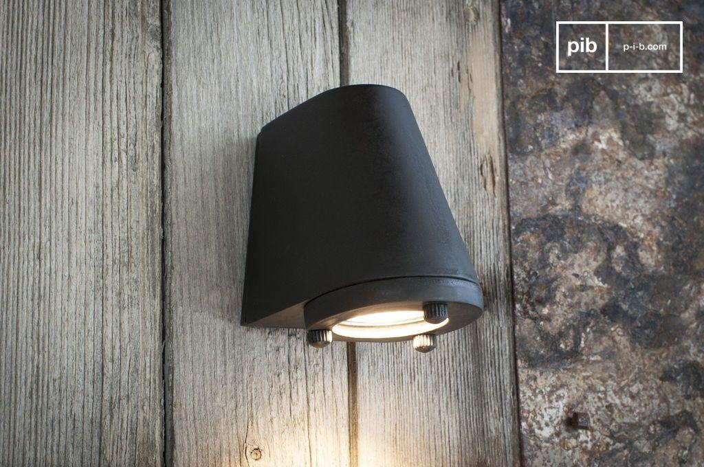 schwarze wandleuchte f r drau en aix optimal erstaunlich pib. Black Bedroom Furniture Sets. Home Design Ideas
