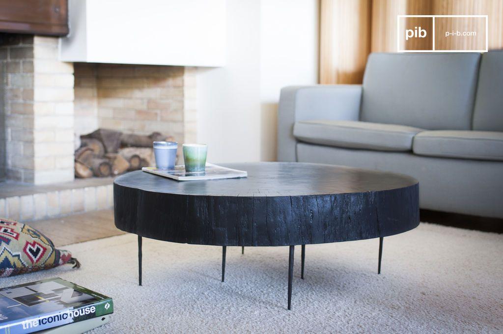 schwarzer baumstamm couchtisch natural luka hand. Black Bedroom Furniture Sets. Home Design Ideas