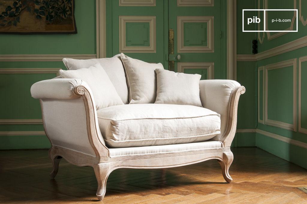 sessel grand trianon rustikaler chic und leinenstoff pib. Black Bedroom Furniture Sets. Home Design Ideas