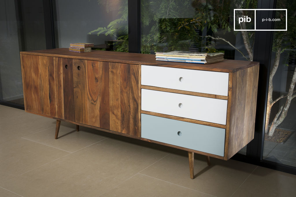 sideboard stockholm im 50er jahre typischen design pib. Black Bedroom Furniture Sets. Home Design Ideas