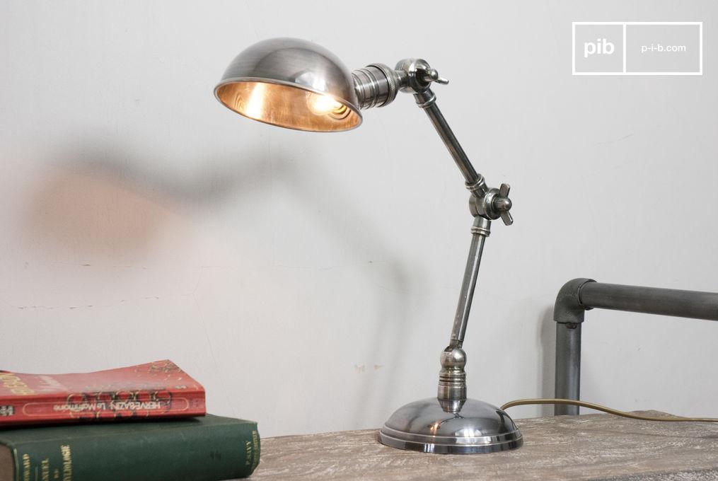 silberfarbene leuchte mit doppeltem gelenk vintagestil pib. Black Bedroom Furniture Sets. Home Design Ideas