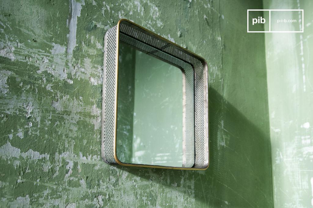 spiegel aus metall olonne retro design zeitlos pib. Black Bedroom Furniture Sets. Home Design Ideas