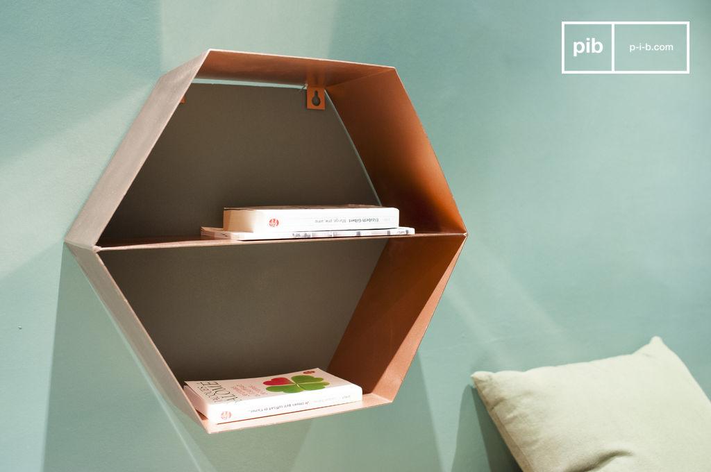 Wandregal ozo kupferfarbenes metallisches m bel pib for Interieur gegenteil