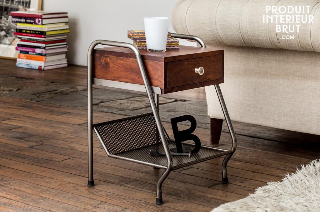 beistelltisch virgile ideal als couchende oder nachttisch sch ner vintage look. Black Bedroom Furniture Sets. Home Design Ideas