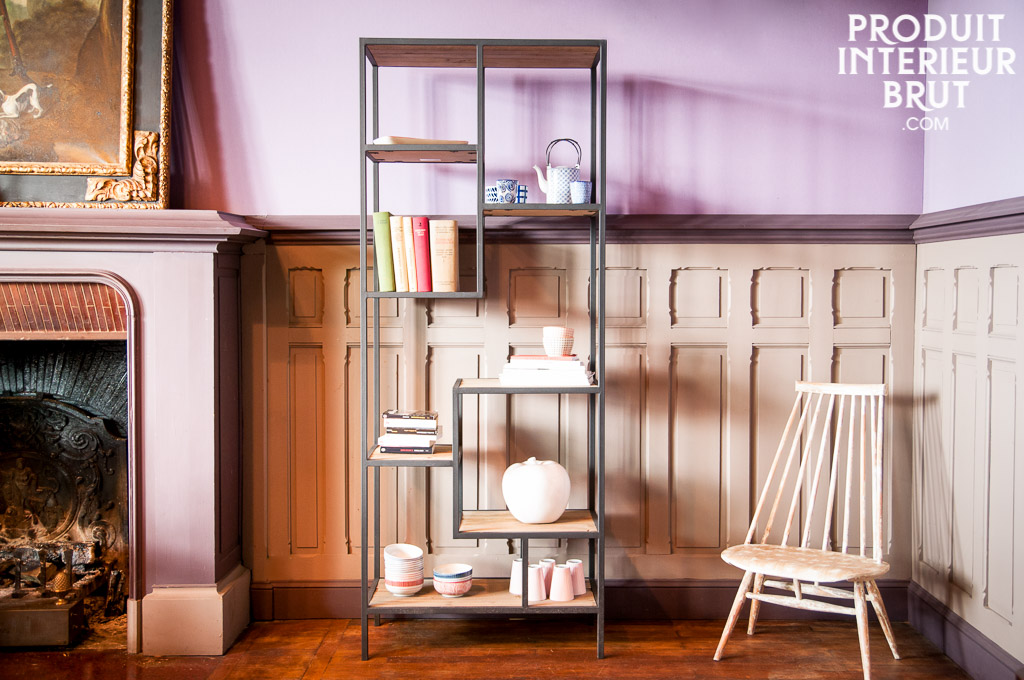 b cherregal yord n elegante regale aus holz und metall. Black Bedroom Furniture Sets. Home Design Ideas