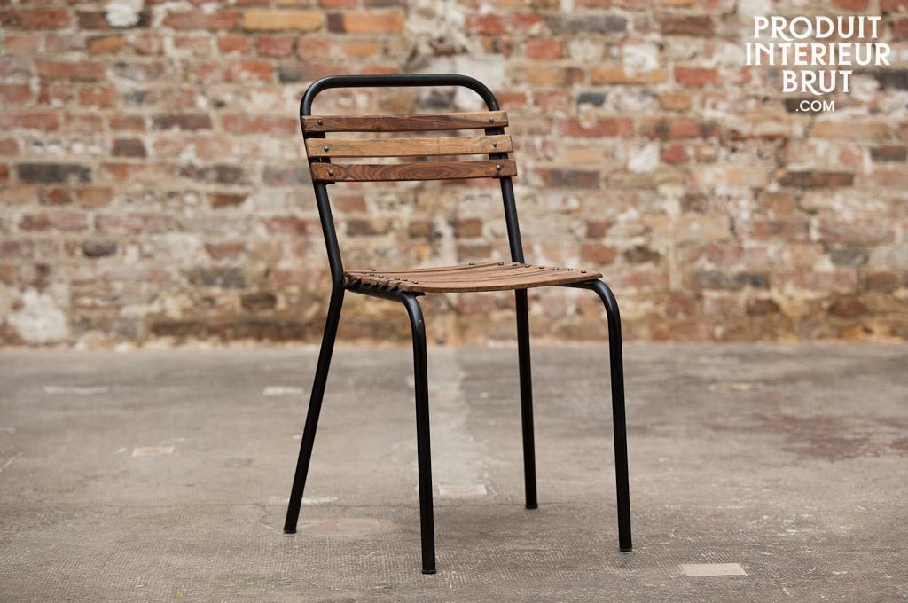Stuhl mistral eine kombination aus holz und metall in for Stuhl industriedesign