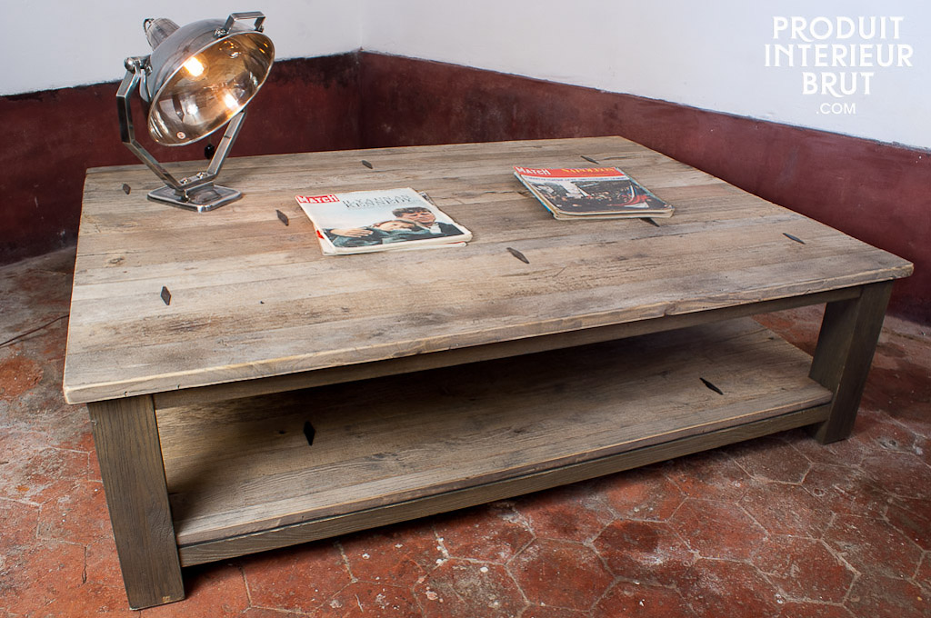 Table Basse En Bois Naturel Style Scandinave Grand Salon Grande