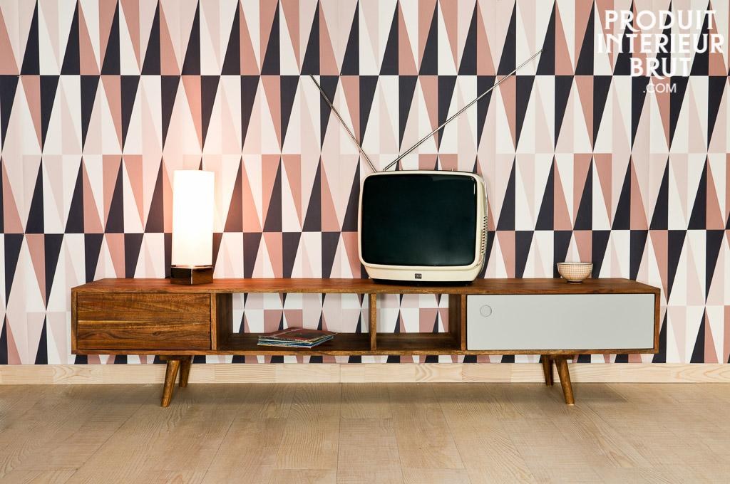 tv m bel stockholm design der 50er jahre aus massivem akazienholz. Black Bedroom Furniture Sets. Home Design Ideas