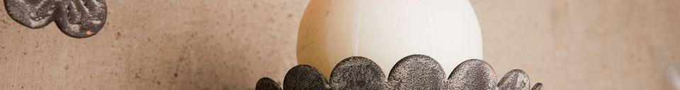 Materialbeschreibung 2-armiger Kerzenhalter Chanteclair