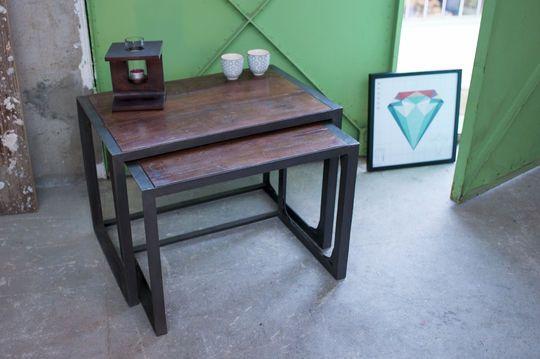 2-tlg Tisch Bold