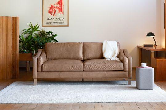 3-Sitzer Zimt Sofa Heidsieck