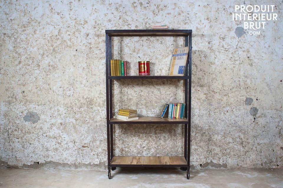 Dank seiner massiven und für Werkstattmöbel so typischen Bauart bietet dieses Aufbewahrungsmöbel