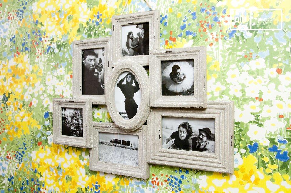 7-teiliger weißer Fotorahmen