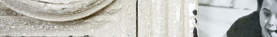 Materialbeschreibung 7-teiliger weißer Fotorahmen