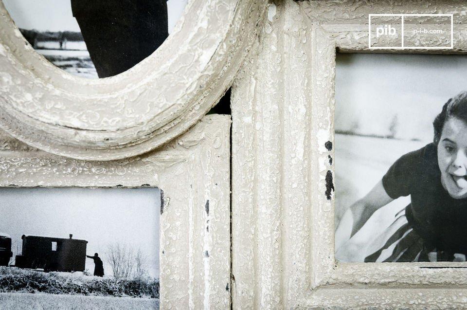 Dieser Fotorahmen ist zugleich Retro und voll im Trend und bietet Platz für 7 Ihrer liebsten Fotos