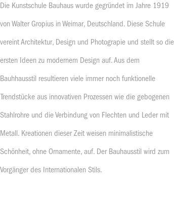Bauhausstil