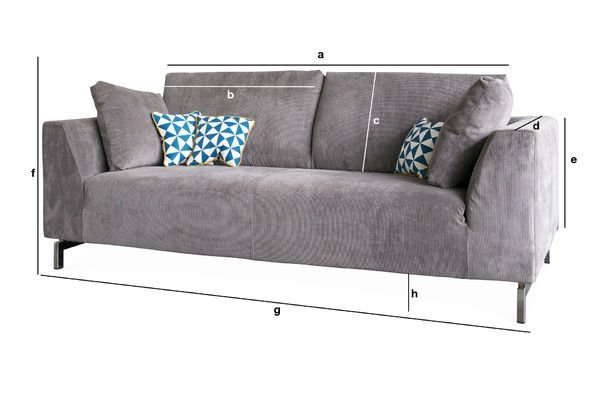 Produktdimensionen Abziehbares Sofa Dakota