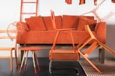 Abziehbares Sofa Dakota Orange