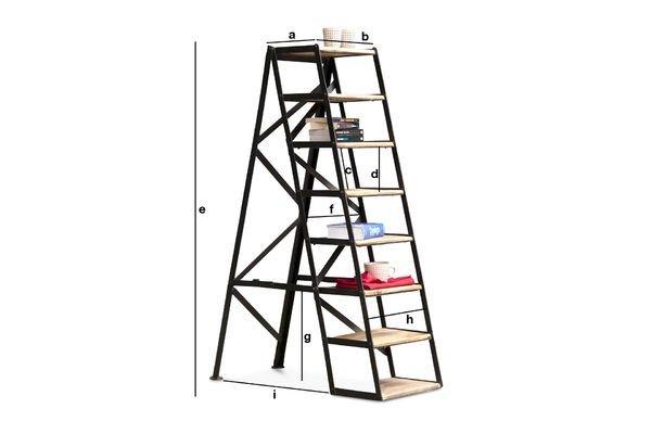 Produktdimensionen Achtstufige Atelier-Trittleiter