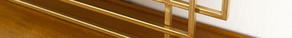 Materialbeschreibung Alma goldener Spiegel