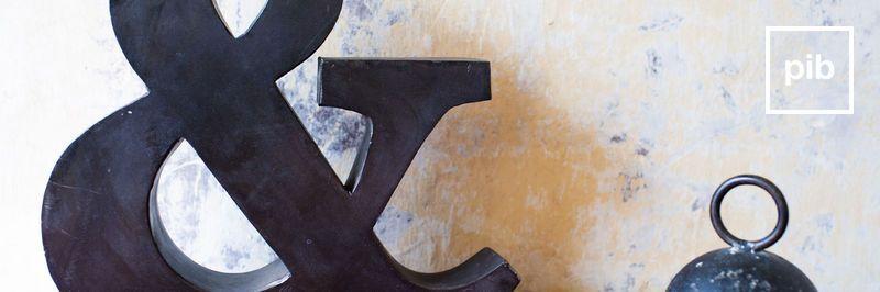 Alte Sammlung von deko-buchstaben shabby chic