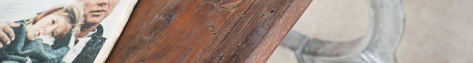 Materialbeschreibung Alter Tisch aus Teakholz Tonnel