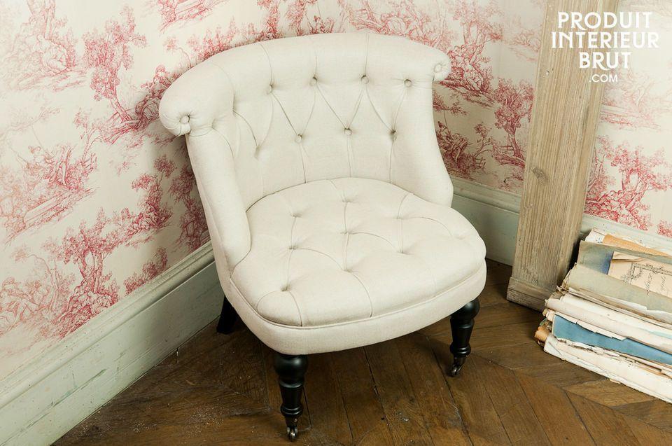 Dieser charmante Amadeus-Polstersessel mit seinem Bezug aus Leinen und Baumwolle ist ein