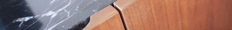 Materialbeschreibung Anrichte aus Holz und Marmor Lovisa