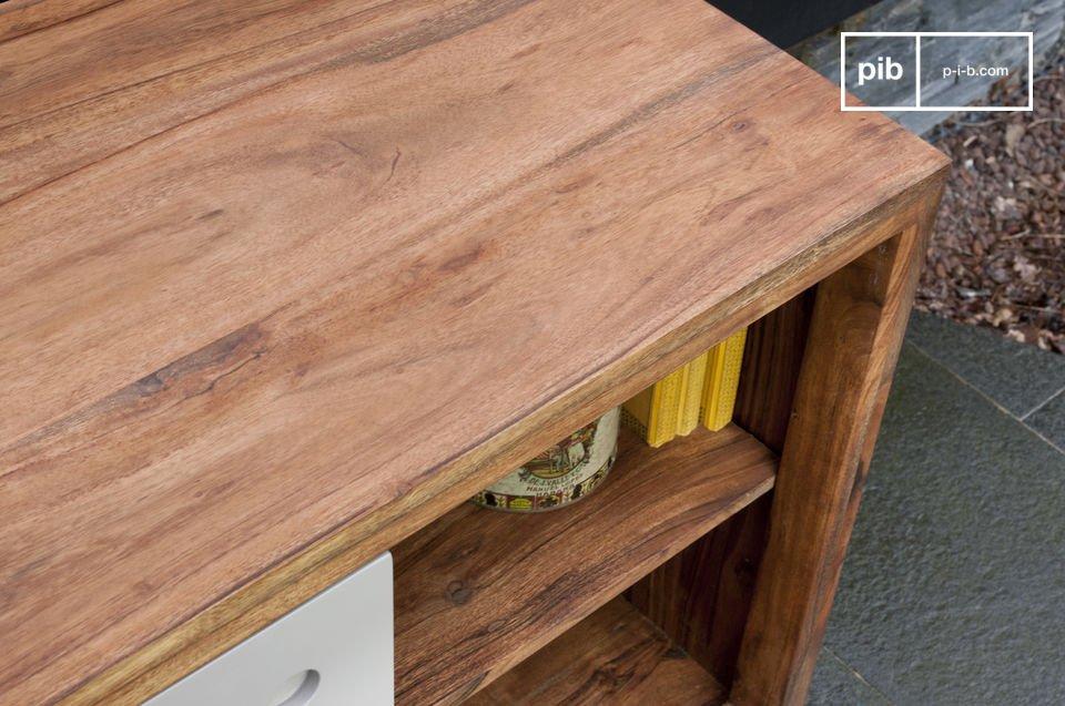Dieses  Möbel im skandinavischen Design   ist nicht nur ideal für die Aufbewahrung von Wohnaccessoires