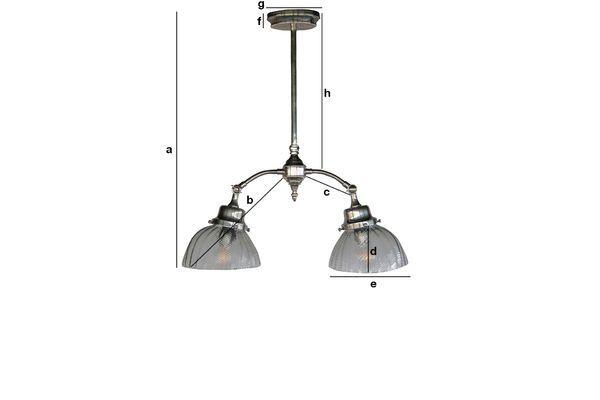 Produktdimensionen Art Nouveau Deckenlampe Haussmann