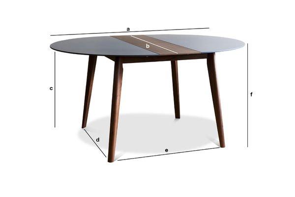Produktdimensionen Ausziehbarer Tisch Cristina