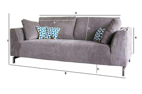 Produktdimensionen Ausziehbares Sofa Dakota