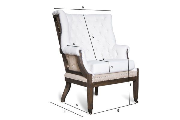 Produktdimensionen Barocker Sessel Cambridge