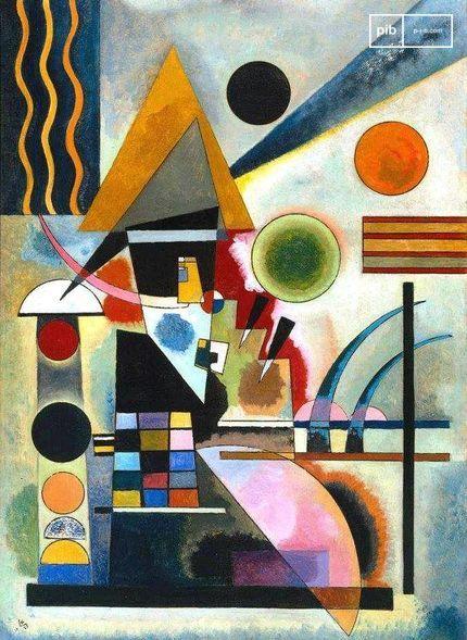 Bauhaus-Kunst - Schwingen von Wassily Kandinsky, 1925