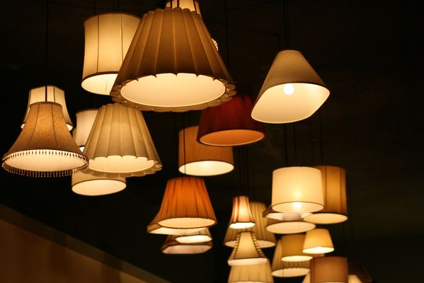 beautiful lampshades atmosphere