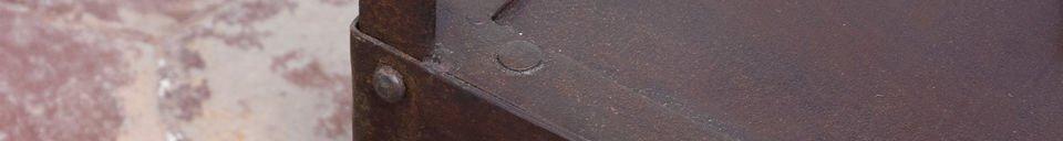 Materialbeschreibung Beistelltisch im Industrial Design