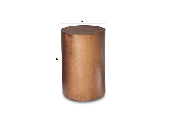 Produktdimensionen Beistelltisch kupfer Thomson