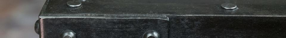 Materialbeschreibung Beistelltisch mit Nieten