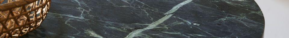 Materialbeschreibung Bistrotisch aus grünem Marmor Lasby