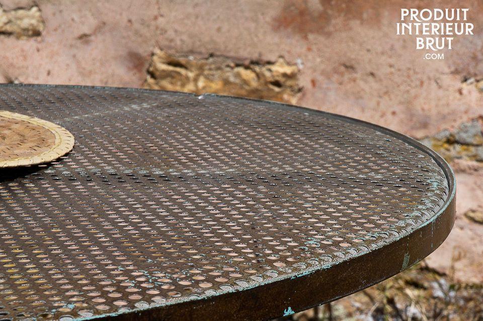 Höhenverstellbare Tischplatte mit Patina