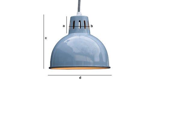 Produktdimensionen Blaue Lampe Snöl